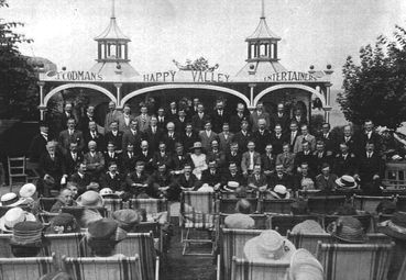 A concert at Happy Valley, Llandudno in 1926