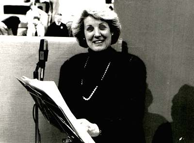 Moira Anderson recording the album