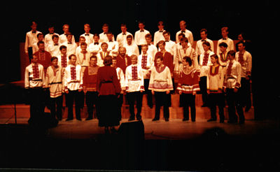 The Moscow choir at the Rhyl Pavillion