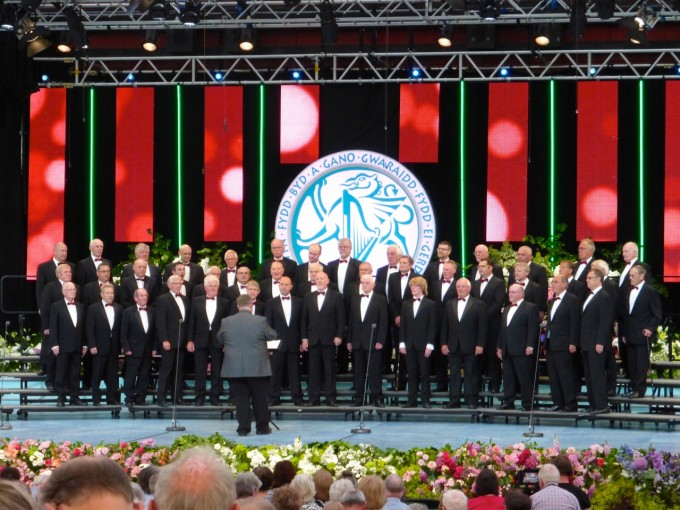 The choir on Stage at Llangollen 2015
